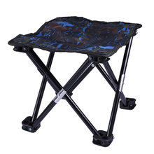 1 Pc Collapsible Chair Light Weight Small Iron BBQ Seat Children Chair Camping Stool for Traveling Painting(China)