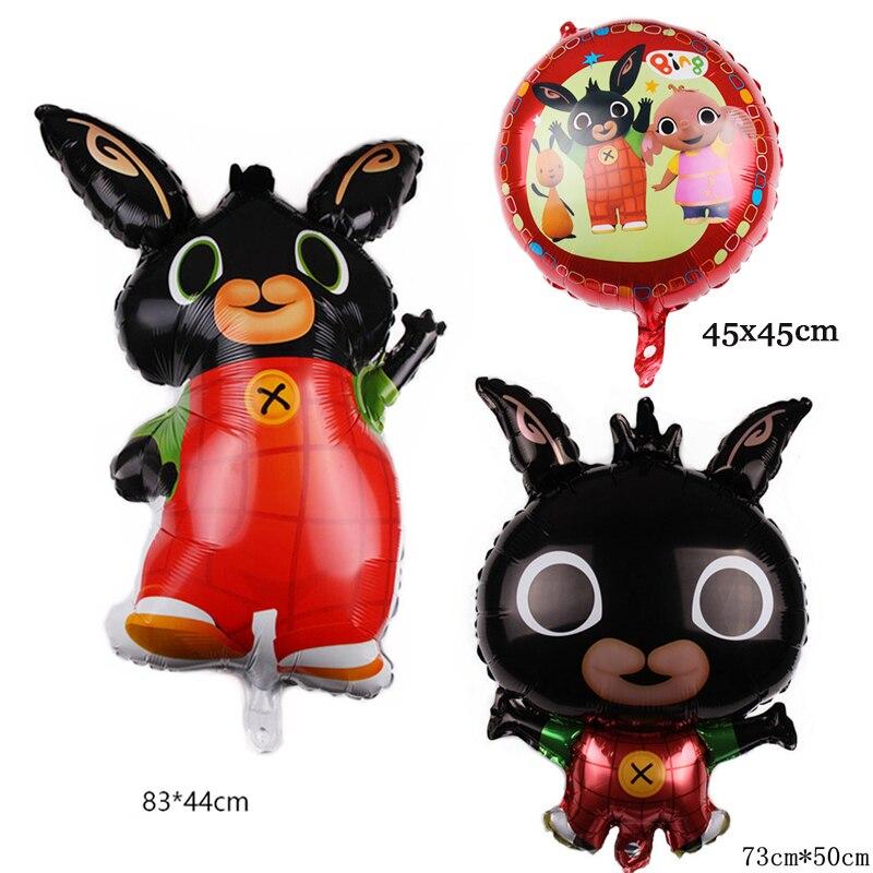 Consumer Electronics Pet Products 1pcs 86*45cm Bing Bunny Foil Balloon Cartoon Rabbit Animal Balloons Toys For Kids Children Birthday Party Decorations Globos