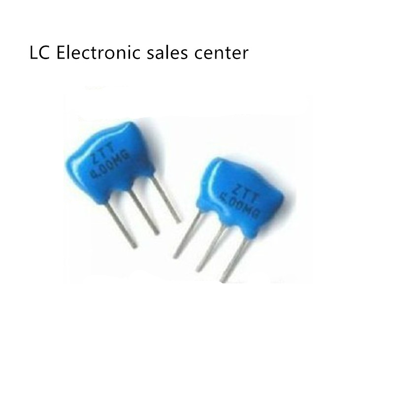 10pcs In-line Ceramic Crystal Resonator 3 Feet ZTT4.0MG 4M 4.000MHZ