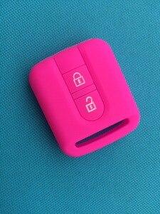 Image 5 - New Car Key Appartamento Piazza Custodia In Silicone Per Nissan Qashqai Micra Navara Almera Nota Fob Copertura In Gomma 2 Tasto del telecomando coperture chiave