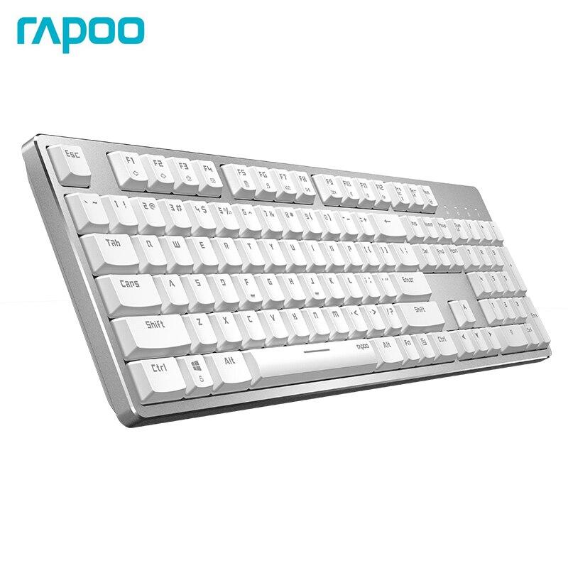 Nova Rapoo teclado Mecânico Backlit Recarregável Bluetooth Alternar entre 4 Conexão de Dispositivos para Windows Mac os PC Tablet