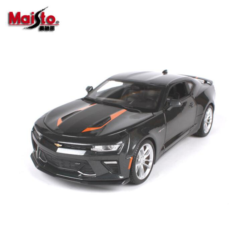 Maisto 1/18 Scale Chevrolet Comaro 2017 Bumblebee Diecast  Model Car Toys For Boys Children Gifts Collections maisto 1952 citroen 15cv 6 cyl 1 18 scale car model alloy toys diecasts