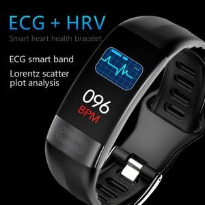 "Image 2 - JingTider P11 Smart Band 0.96 ""EKG + PPG Blutdruck Herz Rate Monitor Aktivität Fitness Tracker Smart Armband Für IOS Android"