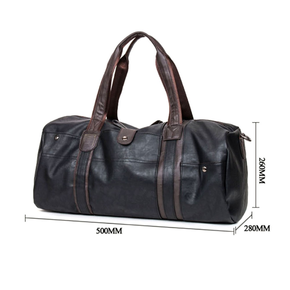 1d6c9618488 2018 Men S Large Capacity PU Leather Sports Gym Bag Fitness Sport ...