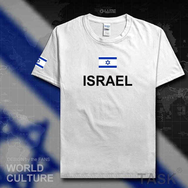 Camisa dos homens t 2017 jerseys equipe nação Israelita Israel algodão  t-shirt desportiva reunião f990fd81edb45