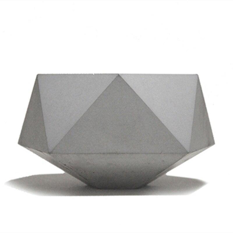 Geometric Flowerpot Mold Concrete Pot Silicone Molds Home Decoration DIY Craft Garden Pot Molds