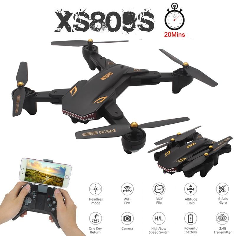 VISUO XS809S professionnel pliable Selfie Mini Drone avec caméra 2MP HD WiFi FPV grand Angle XS809HW RC quadrirotor hélicoptère jouet