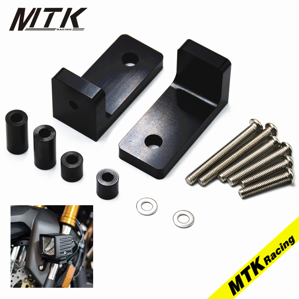 MTKRACING M6 Lower Fork Mount Kit with L Lights Bracket For BMW K1600GT/GTL K1200GT K1200LT K1300S R nineT motorcycle parts