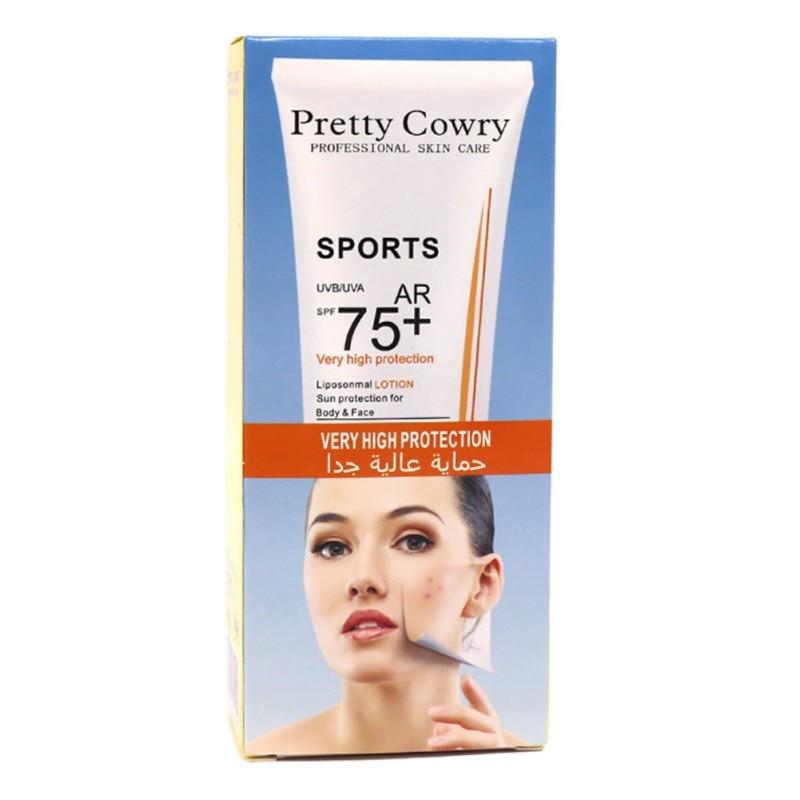 SPF75 Face Skin Care Whitening Sun Protection Sunscreen Cream Waterproof Moisturizing Sunblock Cream 2018