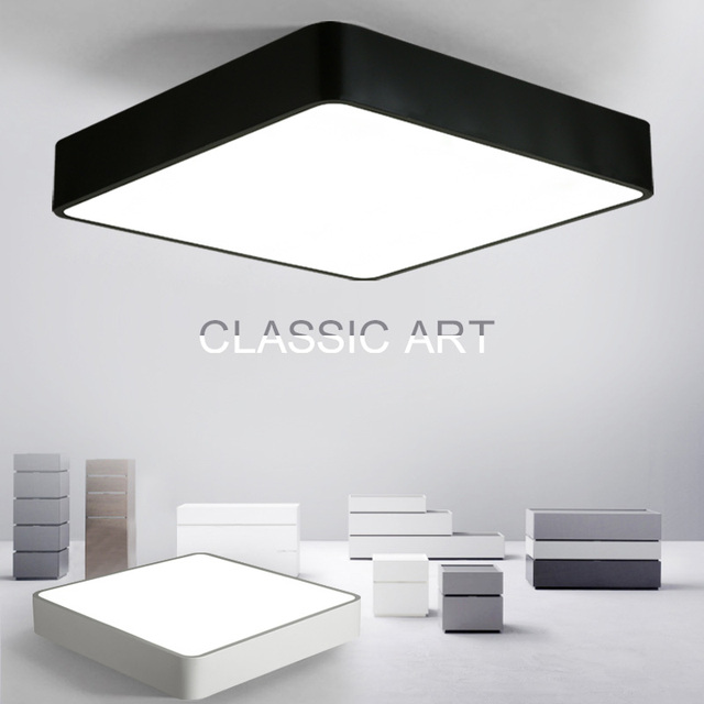 Modern remote control surface mounted ceiling lamp square led panel modern remote control surface mounted ceiling lamp square led panel whiteblack for bathroom lighting aloadofball Choice Image