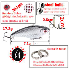 1pcs 7.5cm 17g Fishing Lure Winter Fishing Hard Bait VIB with Lead Inside Ice Sea Fishing Tackle Fly Fishing Wobbler Lure