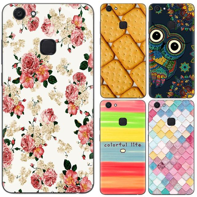 new style 3473d 34447 US $0.99 20% OFF|Phone Case For Vivo V7 + Plus / Vivo Y79 5.99 inch Cute  Cartoon High Quality Painted TPU Soft Silicone Skin Back Cover Shell-in ...