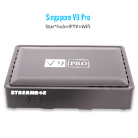 Latest V9 PRO set top box for starhub tv box HD channels blackbox Singapore cable tv box football games stable built-in WIFI