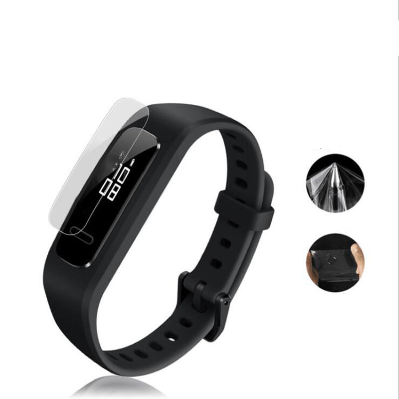 2pcs Soft TPU Clear Protective Film For Huawei Band 3E Running Smart Wristband Watch Bracelet Full Screen Protector Cover