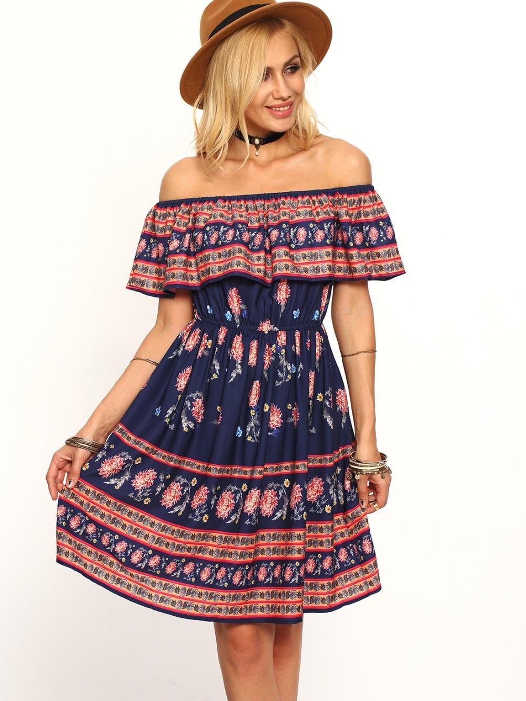 H.SA 2017 Spring Summer Dresses Retro Vintage Off Shoulder ...