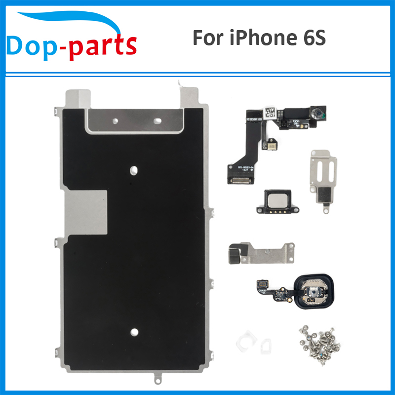 Dop-parts Complete LCD Repair Parts For iPhone 6S Touch Display Metal Bracket Front Camera Earpiece Speaker Plate+Home Button image