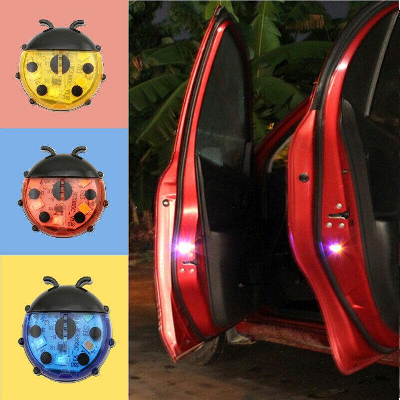 5LED Car Door Warning Light Wireless Anti Rear Collision Lamp Kit Flash 2pcs