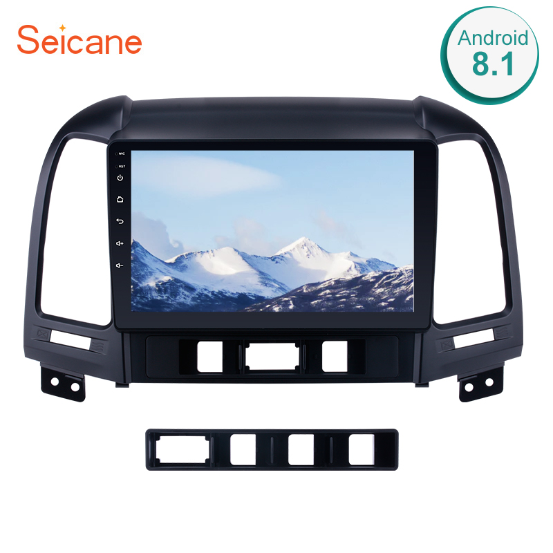Seicane 2Din Android 8.1 9 Inch Car Radio For 2005 2012 HYUNDAI SANTA FE GPS Navi Stereo Multimedia Player Head Unit 3G Wifi