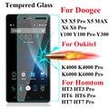 9 h templado protector de pantalla de cristal para doogee y100 550 f3 f5 x5 Max Pro X6 Pro Oukitel K4000 K6000 Homtom Ht3 Ht6 Ht7 Pro cubierta