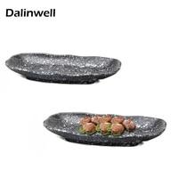 11 13Inch Melamine Matting Long Square Hot Pot Dish Imitate Porcelain Cooking Serving Plate Tableware Kitchen