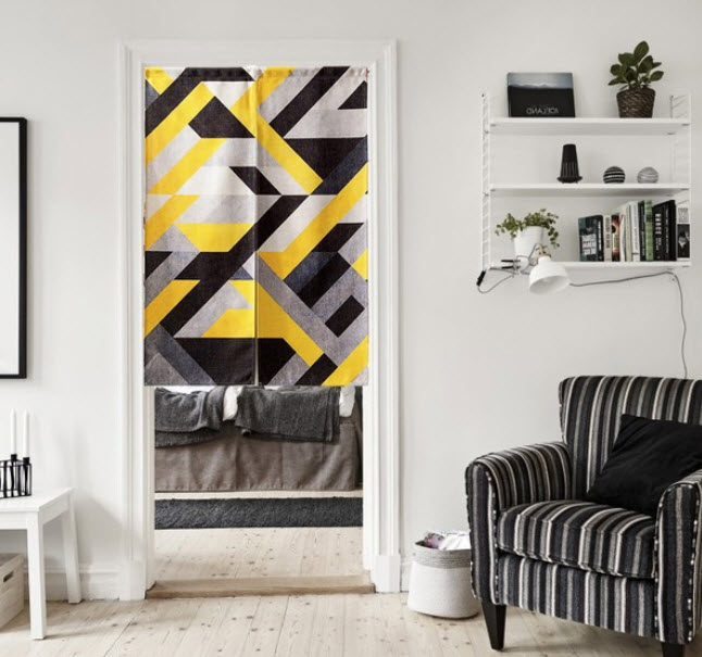 Online Buy Wholesale black yellow curtains from China black yellow ...
