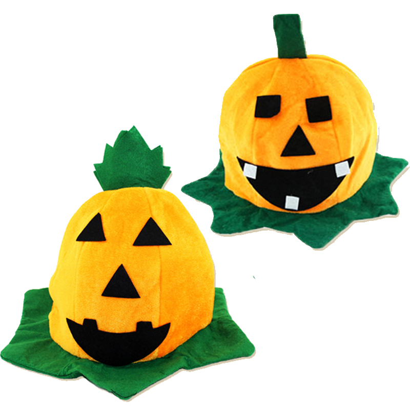 Halloween Cartoon Pumpkin Hat School KTV Bars Party Wear Pumpkin Caps Masquerade Props Costumes Accessory