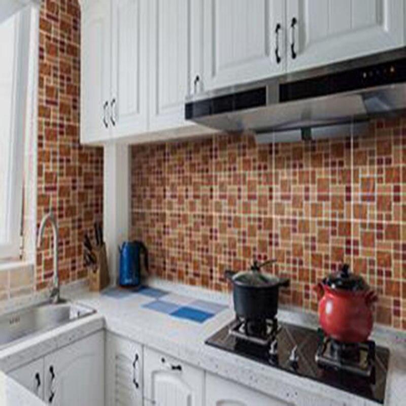 smart selbstklebende 3d mosaik pu marmor stein fliesen wasserdicht und lbestndig vinyl wandfliese fr home office - Mosaik Flie