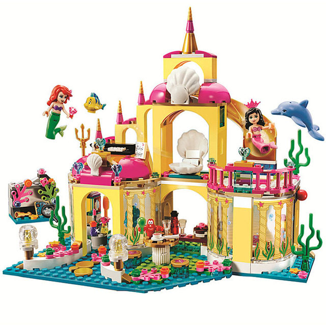 402pcs Princess Undersea Palace Girl Friends Building Blocks Bricks Toy For Children Compatible With Legoingly Friends