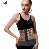Lover Beauty Leopard Print Waist Trainer Shaping Body Shaper Waist Cincher Tummy Slimmer Workout Belt Slimming Corset A