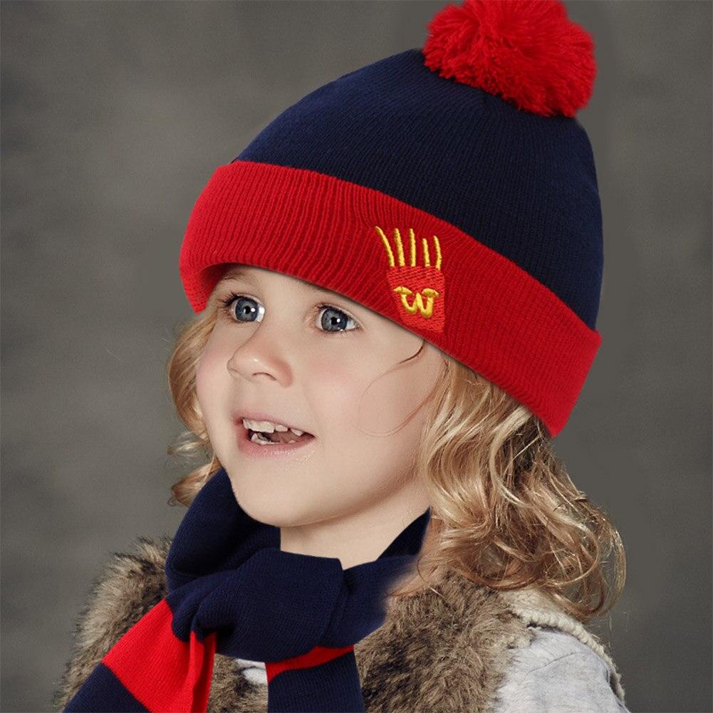 VBIGER 3 pcs Enfants Hiver Tricoté Bonnets Skullies Ensemble Chaud Rayé  chapeau avec Écharpe Gants Enfants Cap Mitaine Châle pour Garçon fille dans  Chapeaux ... e1d23c66d99