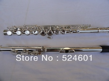 Wholesale Very good gift  SUZUKI16 hole silver-plated C Flute – E key