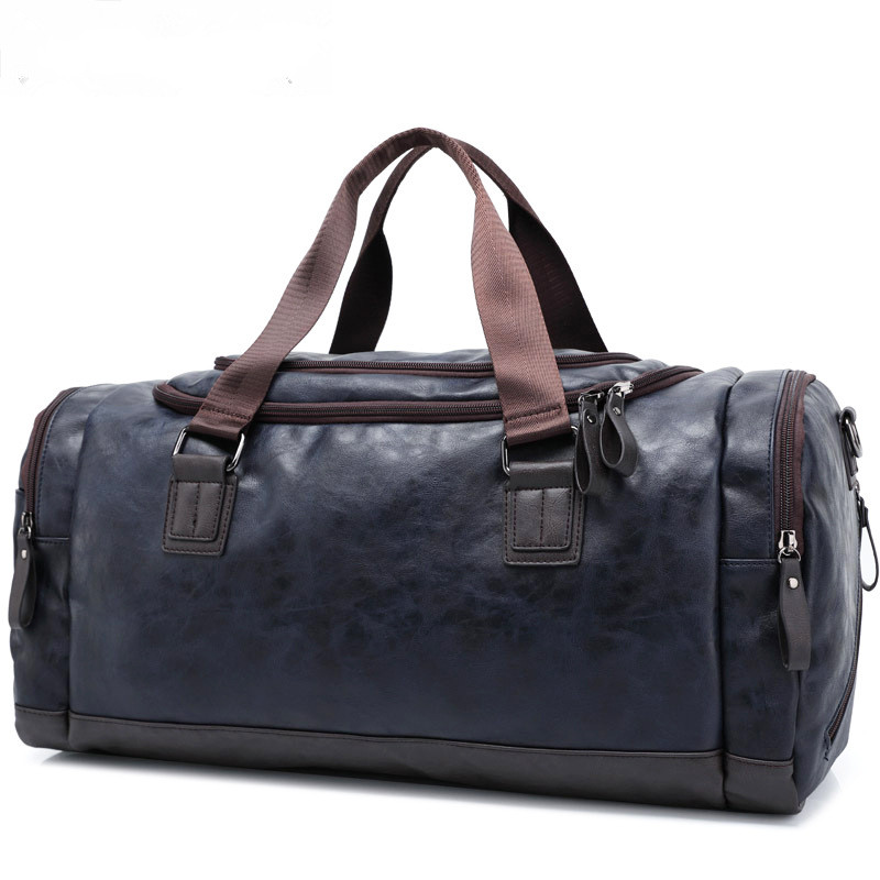 ФОТО Men Travel Bag Leather Weekend Bag Overnight Waterproof Large Capacity Carry on Luggage Women Duffel Tote Bolsa Maletas de viaje
