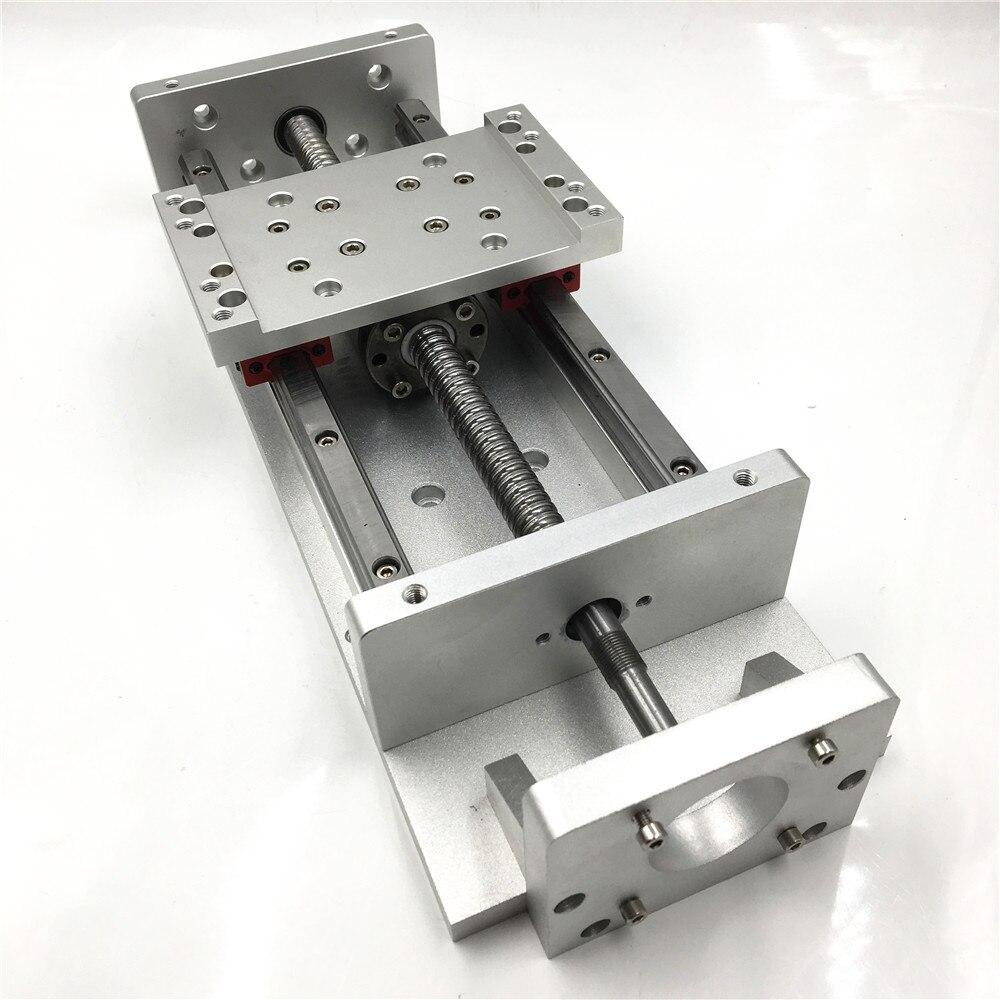 Nouvelle Étape Linéaire Actionneur L700mm Course CNC Table Coulissante SFU1605 Vis À Billes Chariot Transversal Rail Carré Table De Travail TH20-57-700