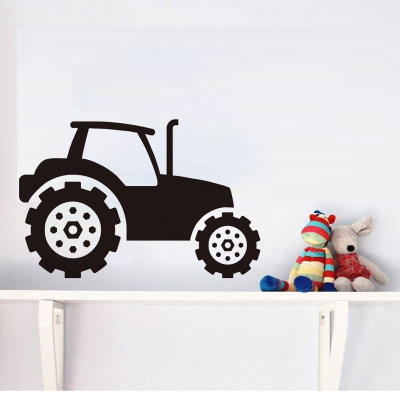 Aliexpress Com Buy Dctop Kids Tractor Wall Sticker Vinyl