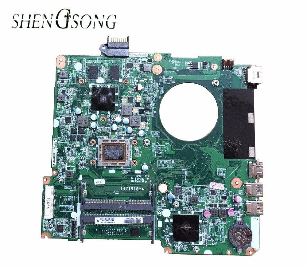 737138-501 for HP PAVILION 15 15-N15Z-N100 laptop motherboard DA0U92MB6D0 REV:D 737138-001 Mainboard 100% tested