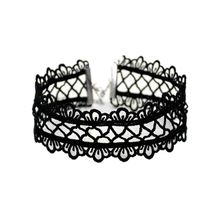 Vintage Hollow Out Lace Choker Necklace Gothic Punk Neck Rope Collar Jewelry