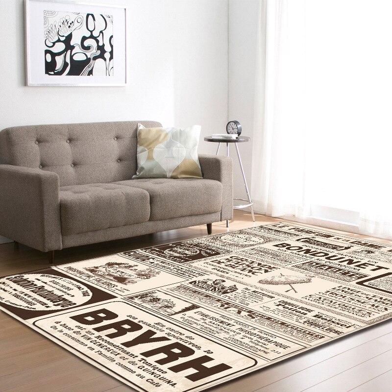 Vintage argent crâne imprimer Floormat tapis anti-dérapant couverture couloir épais enfant jouer tapis Table Pad salon chambre décor à la maison - 5