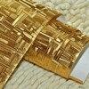 Pure Gold Reflective Foil Wallpaper KTV Bar Cashier Aisle Barber Shop Light Tank Stage Background De