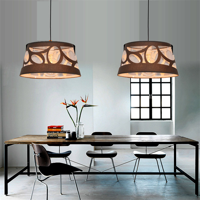 Nordic Modern Creative Concise Art Style Livingroom Pendant Light Study Bedroom Restaurant Bar Cafe Cloth Lamp Free Shipping цена и фото