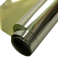 HOHOFILM 80cmx300cm Gold&silver Window Film Glass Stickers Solar tint Reflective One Way Mirror Home Office sticker