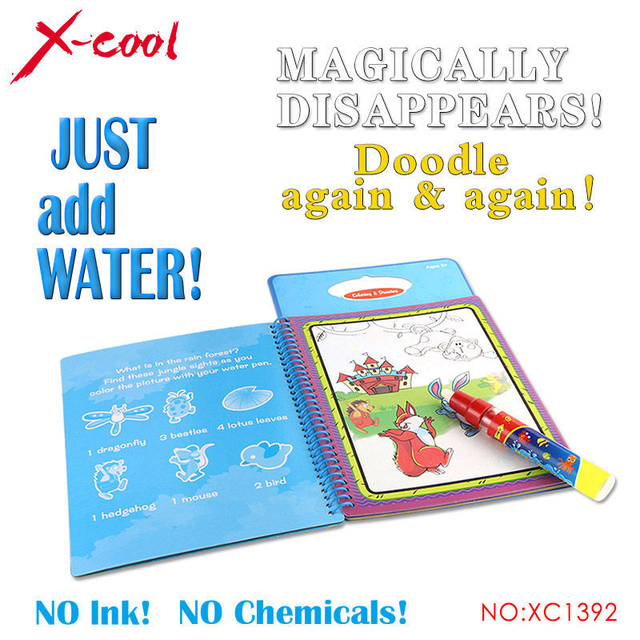 1 Pcs New arrives Intimate Coloring Magic Water Drawing Book with 1 Magic Pen for kids 1392