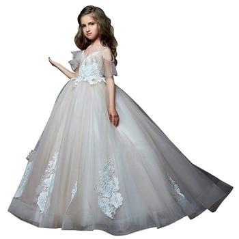 fancy little girls dress 2018 fantasia infantil para menina robe fille enfant mariage de soiree ball gown kids dresses for girls