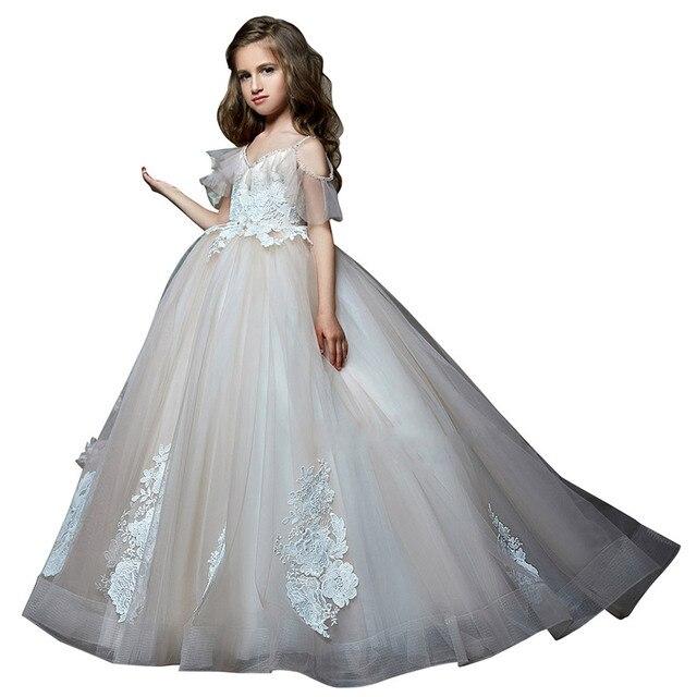 cb4bbcb0e2 fancy little girls dress 2018 fantasia infantil para menina robe fille  enfant mariage de soiree ball gown kids dresses for girls