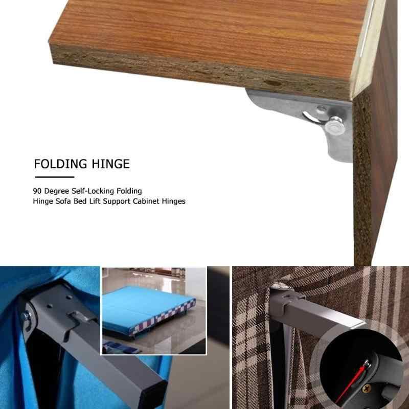 90 gradi di Auto-Bloccaggio Cerniera Pieghevole Tavolo Da Pranzo Ascensore Supporto di Collegamento Cabinet Cerniere Ferramenta per mobili Accessori
