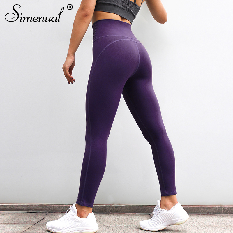 Simenual Push Up High Waist Leggings For Fitness Polyamide Good Quality Legging Women Sportswear Athleisure Breathable Jeggings