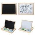 Multifuncional de madeira Dupla Face Lousa Placa de Escrita de Desenho Contando Matemática Aprendizagem Brinquedos Prancheta Magnética Para Crianças
