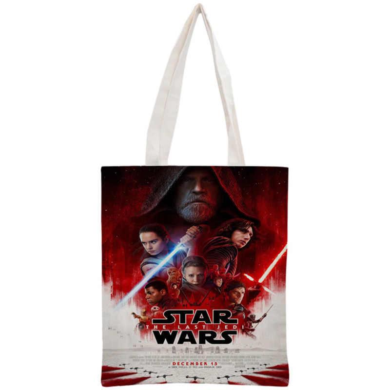 6e4b431f2c6d На заказ Звездные войны Сумка многоразовые сумки для женщин Сумка Складная  холст хозяйственные сумки 30 x