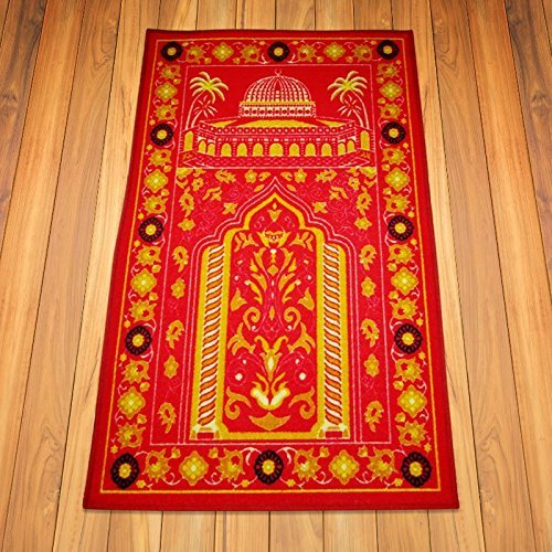 Prayer Rug Types: 100% Nylon Turkish Prayer Rug For Middle East Persons Red