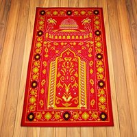 100% Nylon Turkish Prayer Rug for Middle East Persons Red Muslim Prayer Rugs Padded Prayer Rug Islamic Prayer Rug