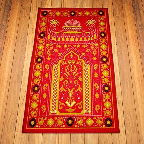 100% Nylon Turkish Prayer Rug For Middle East Persons Red Muslim Prayer Rugs  Padded Prayer